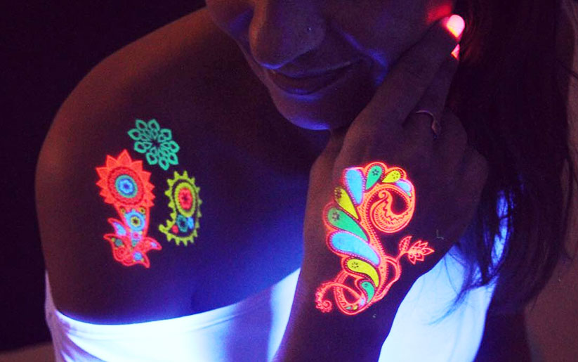 Turn Off The Lights For Glow-In-The-Dark Tattoos!
